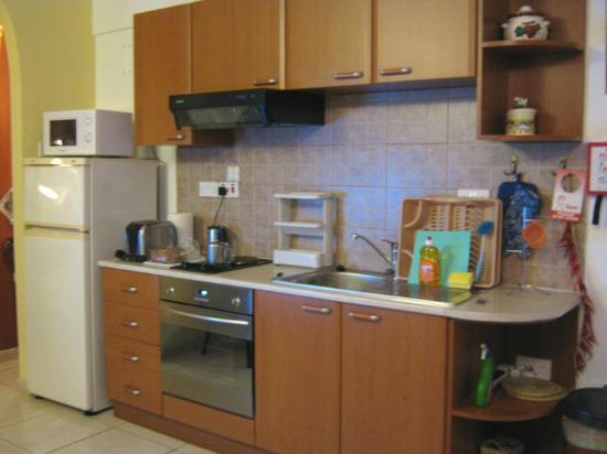 Apollonia Holiday Apartments: Kitchen area