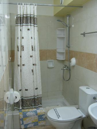 Apollonia Holiday Apartments: Excellent shower