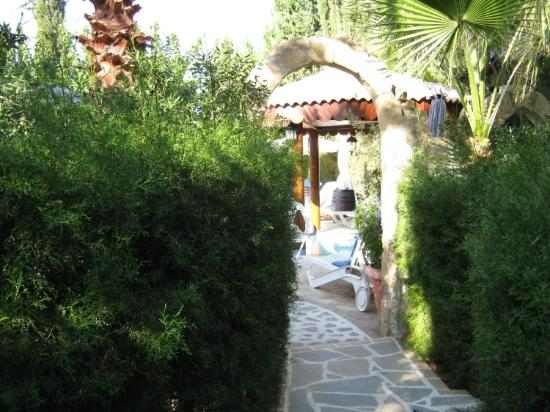 Apollonia Holiday Apartments: Garden area