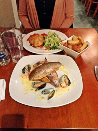The Gate Bistro: Seabass with crayfish was the best!