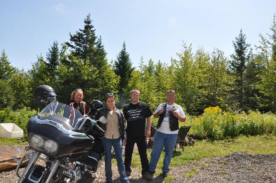 Cabot Trail Motorcycle Retreat: Our Hosts saying goodbye
