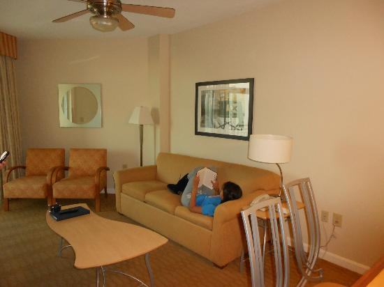 Wyndham Ocean Boulevard: Living room area