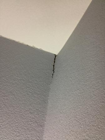 Days Inn & Suites Bonita Springs North Naples: wall splitting from itself