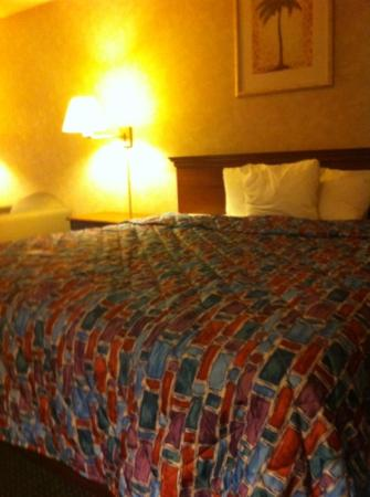 Motel 6 Oakdale: the bed's very comfy too! :)