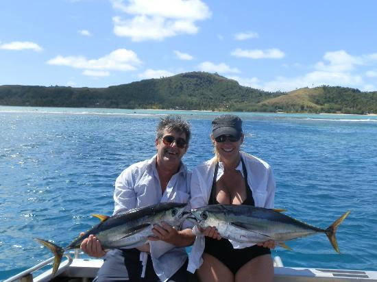 Aretai Beach Villas : Deep Sea fishing with Mike at Black Pearl Charters