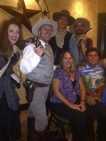 Kathy & Doug with the cast at Texas Star Dinner Theater