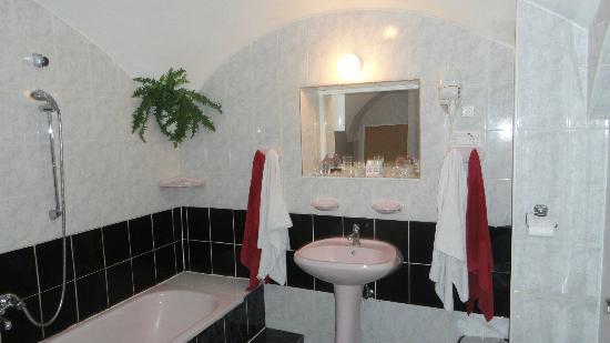 Hotel Romantik: Huge bathroom, main floor front room