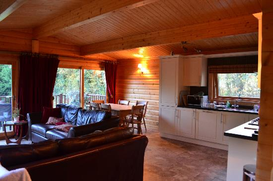 Cherbridge Cottages: Kitchen and Living Area