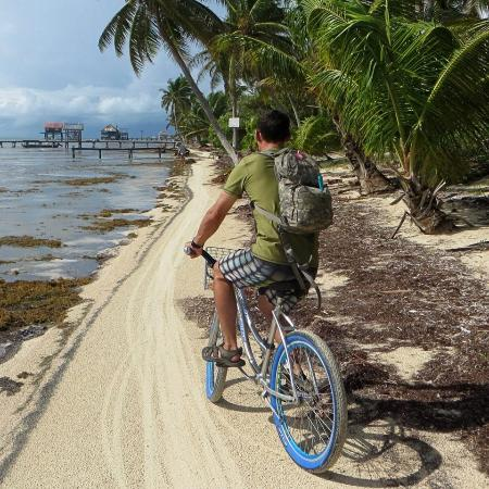 Matachica Beach Resort: Riding the bikes to the best bar in the world.