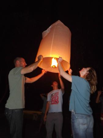 lantern ceremony at Joy's House