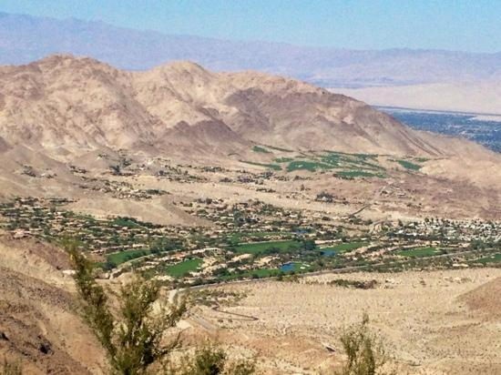 Palm Desert, CA: first overlook into Palm Springs