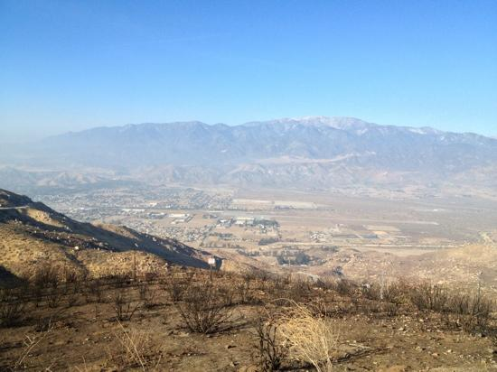 Palm Desert, CA: looking down on Banning, California