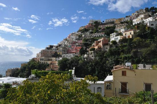 Hotel La Bougainville: Positano from our room's balcony