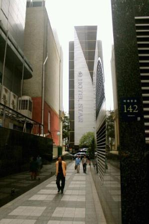 Hotel Star : Picture taken from the subway entrance to illustrate how near the hotel and the subway.