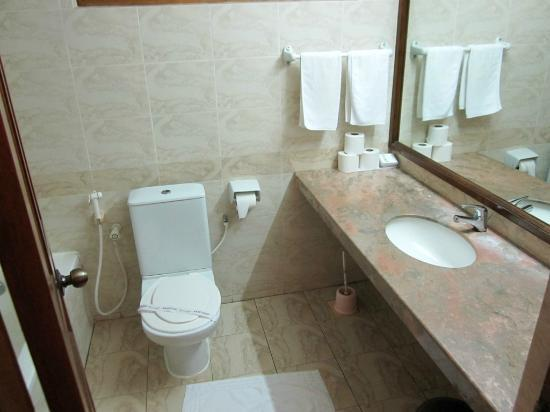 Fihalhohi Island Resort: Bathroom in the comfort room