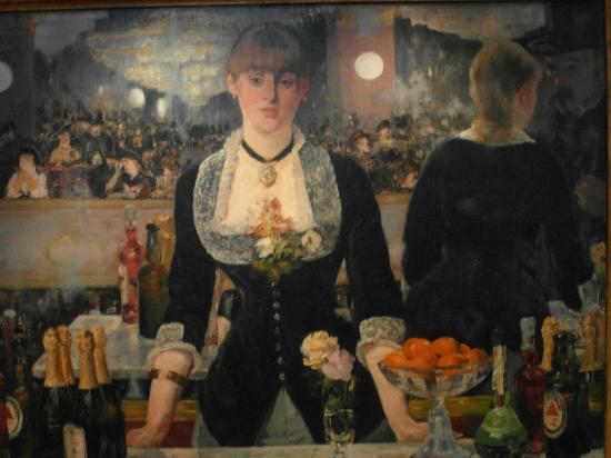 The Courtauld Gallery : A bar at the Folies Bergere - Manet