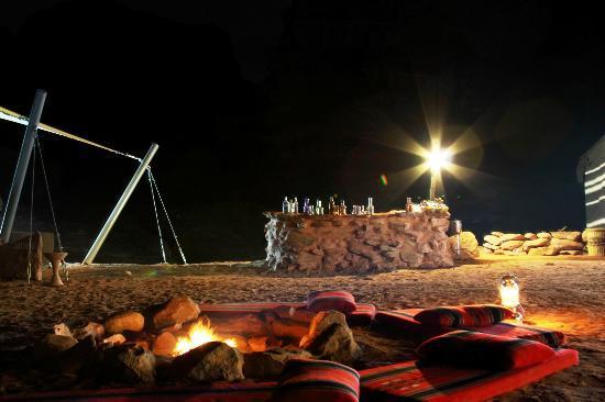 """King Aretas IV Luxury Camp"" at night..."