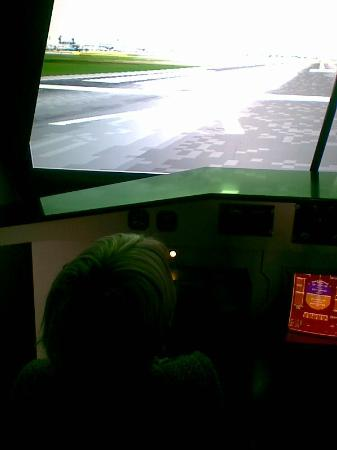 Technopolis : simulatie in een vliegtuig.