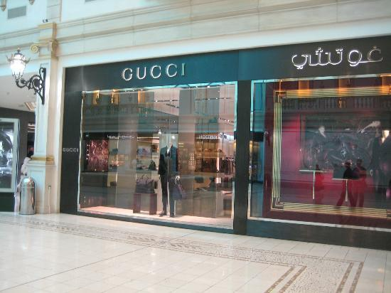 Villaggio: one of the high end store open at 3pm on Friday