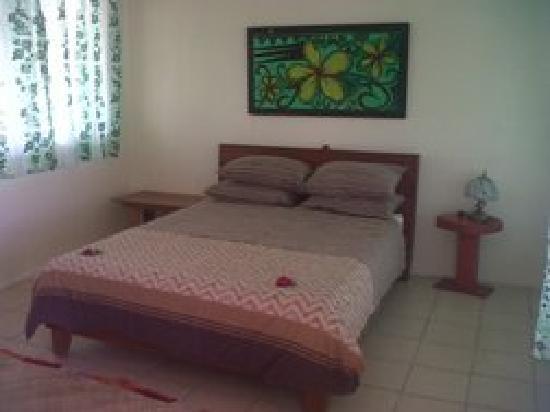 "Bayview Resort: Inside ""Afakasi Bungalows"" enclosed quarters."