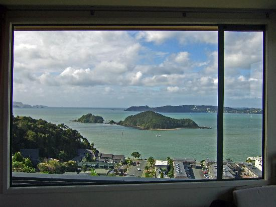 Allegra House: Russell and Motumaire Island from the room, looking NE