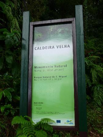 Environmental Interpretation Centre of Caldeira Velha: Signage