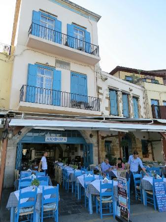 أمفورا هوتل: hôtel et restaurant sur port 