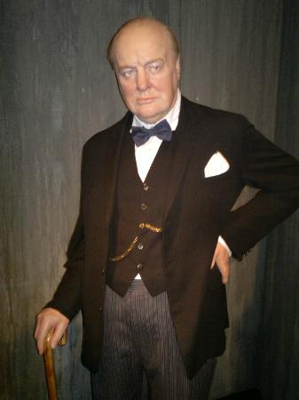 Madame Tussauds: Winston Churchill.