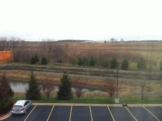 Holiday Inn Aurora North- Naperville: View out of window from room 321