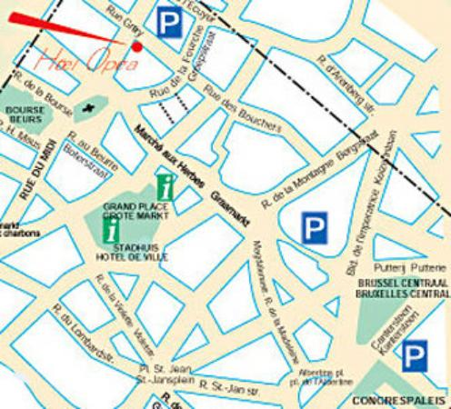 Hotel Opera Bruxelles: Area Info
