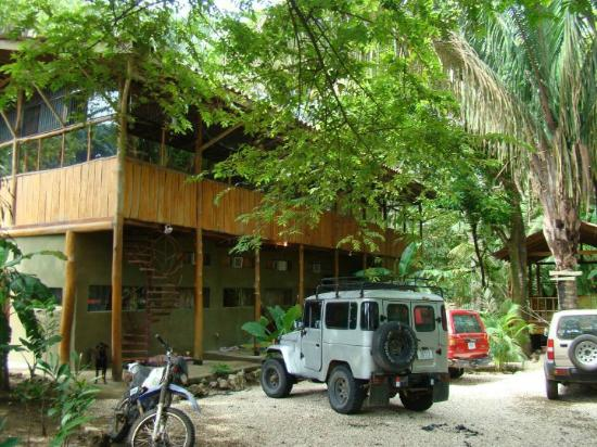 Free Secure Parking at The Jungle House vacation rental on the beach in Santa Teresa Costa Rica.