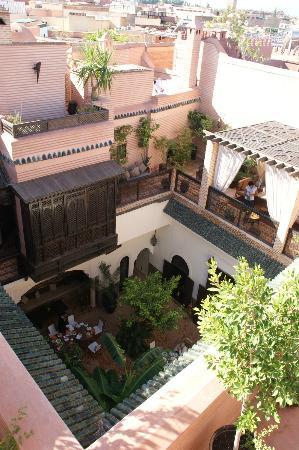 Riad Ilayka: vue de la terrasse supérieure