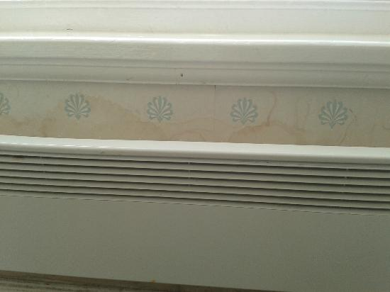 "St. Ives Harbour Hotel & Spa: ""luxury accommodation"" - damp stains and broken radiator"