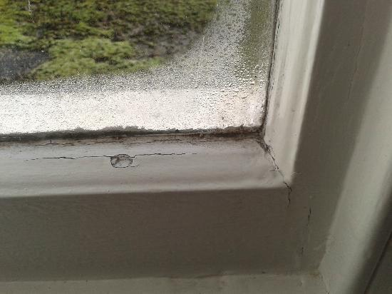 "St. Ives Harbour Hotel & Spa : ""luxury accommodation"" - mouldy windows"