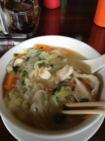 Blu' Beach Bungalows: Chicken noodle soup. So good!