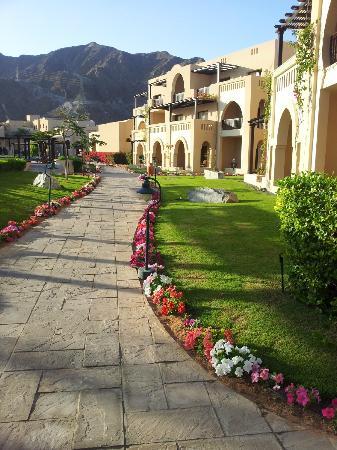 Miramar Al Aqah Beach Resort: Vacker trädgård