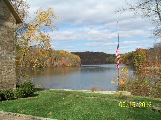 Salt Fork Lodge and Conference Center: View from the Kennedy Stone House