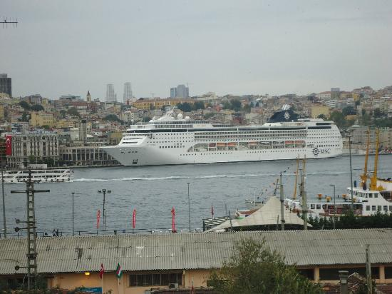 Golden Horn Istanbul : View from bedroom overlooking the Bosphorus sea