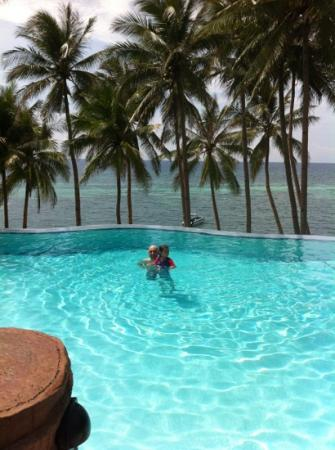 Anda White Beach Resort: superb pool view