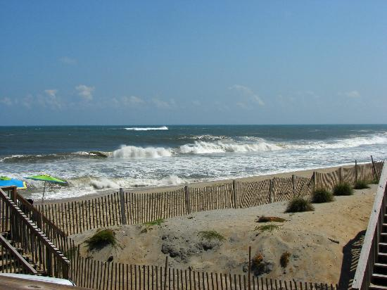 Outer Banks Motel: The view from our deck (unit 105) 9-8-2012