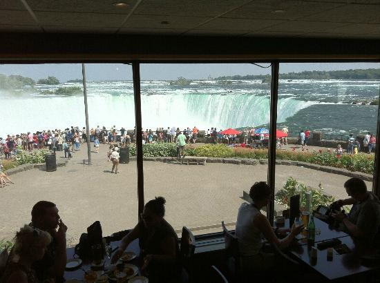 The View Of The Horse Shoe Falls From Within The Restaurant