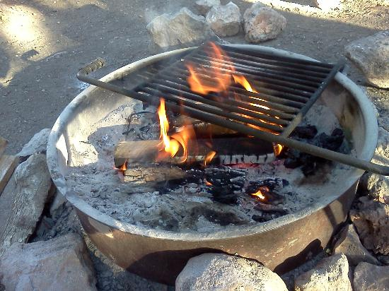 Camping Fire Pit >> Fire Pit At Campsite Picture Of Mather Campground Grand Canyon