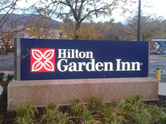 Hilton Garden Inn Ogden UT: sign