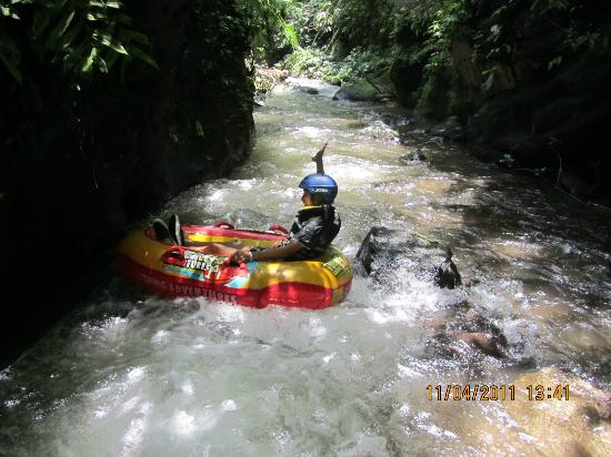 Payangan, Indonesia: drifting down the crystal clear mountain stream