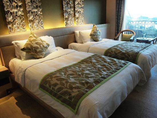 Shangri-La's Rasa Sentosa Resort & Spa: sehr bequeme Betten