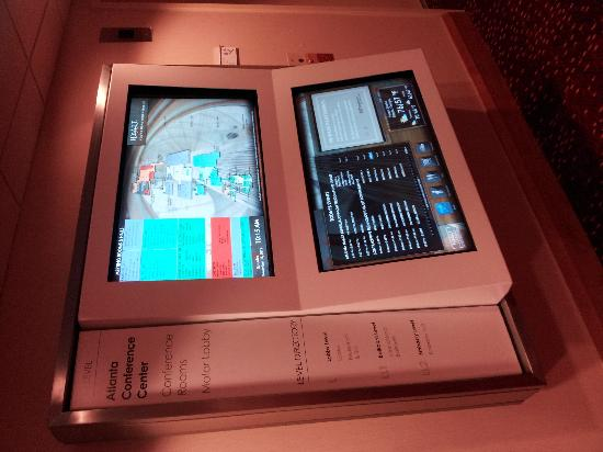 Hyatt Regency Atlanta: Interactive directional kiosks available throughout the hotel.