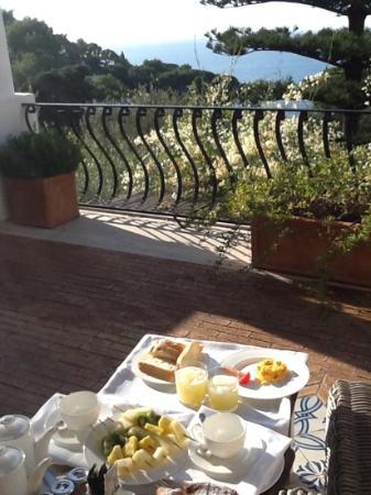 La Minerva: petit déjeuner en terrasse, 3novembre 2012