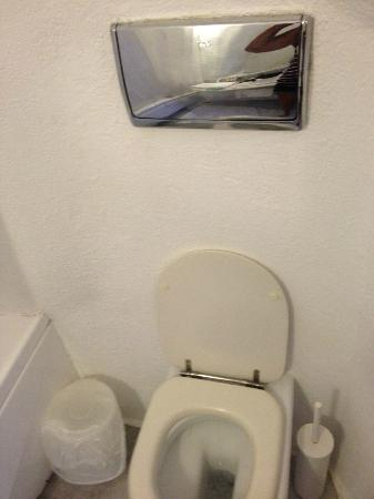 Porto Fira Suites : toilet had one of the biggest and shiniest flushers I've ever seen!