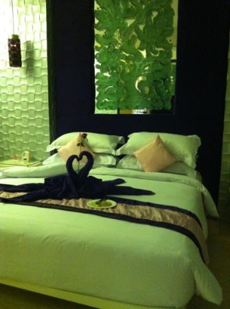 Grand Mega Resort & Spa: our honeymoon decoration by hotel...