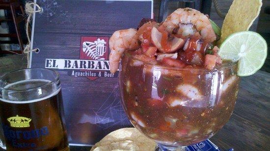Barbanegra Aguachiles & Beer: Great Taste!